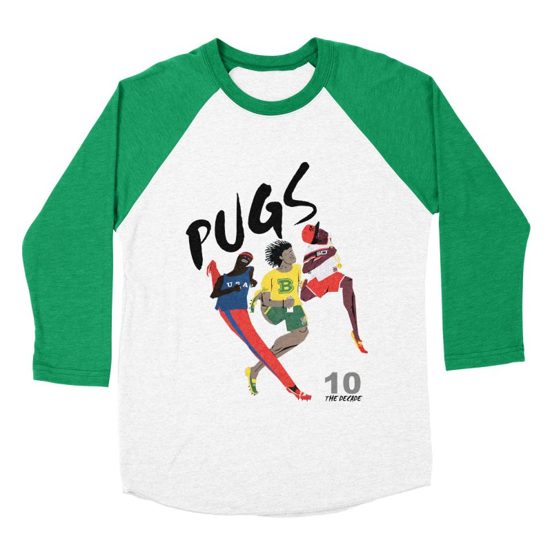 The Decade Men's Baseball Triblend T-Shirt by USUWE by Pugs Atomz