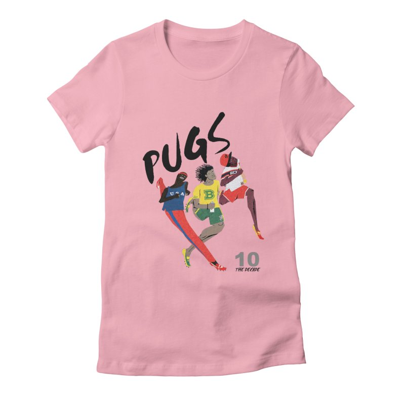 The Decade Women's Fitted T-Shirt by USUWE by Pugs Atomz