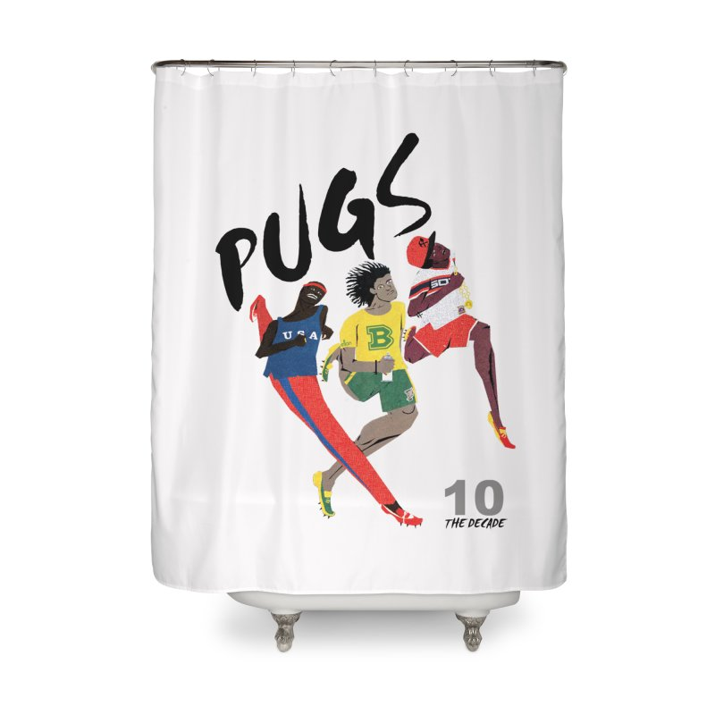 The Decade Home Shower Curtain by USUWE by Pugs Atomz