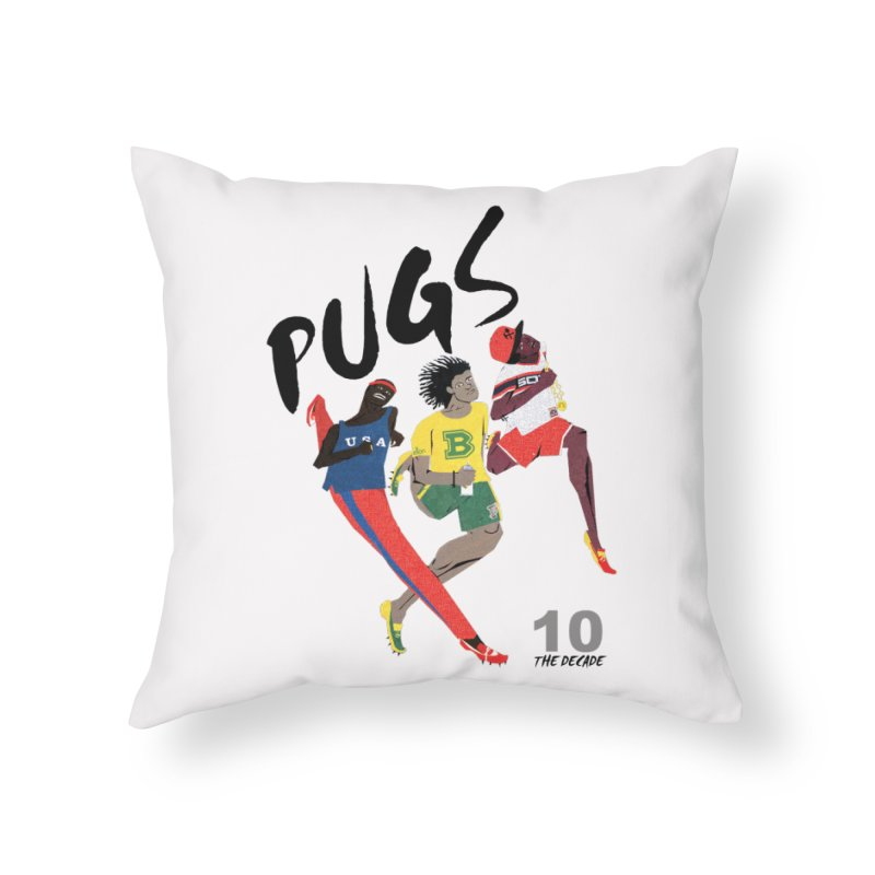 The Decade Home Throw Pillow by USUWE by Pugs Atomz