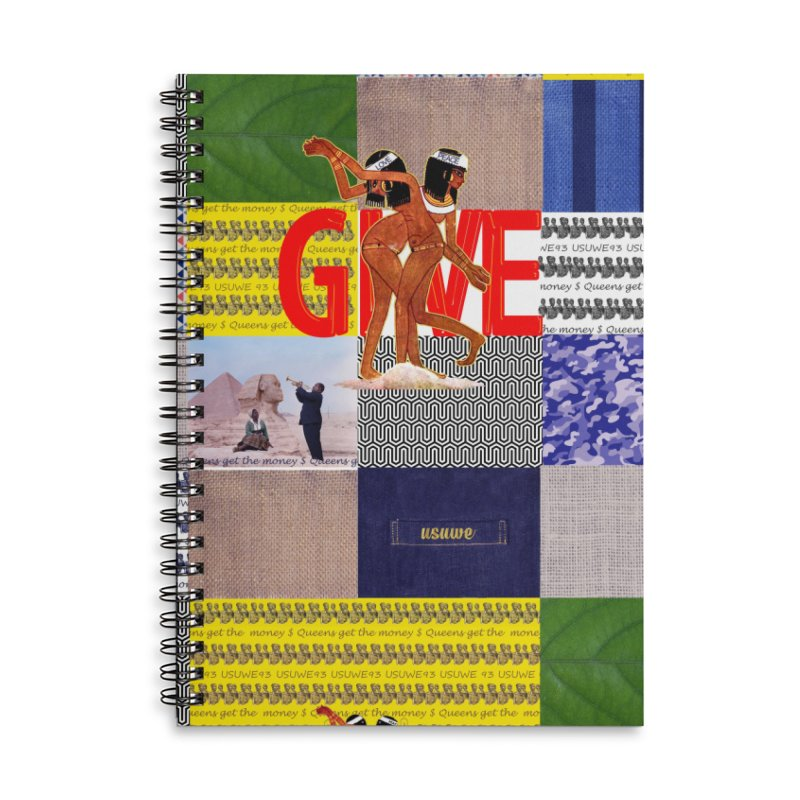 Queens Get the money Accessories Lined Spiral Notebook by USUWE by Pugs Atomz