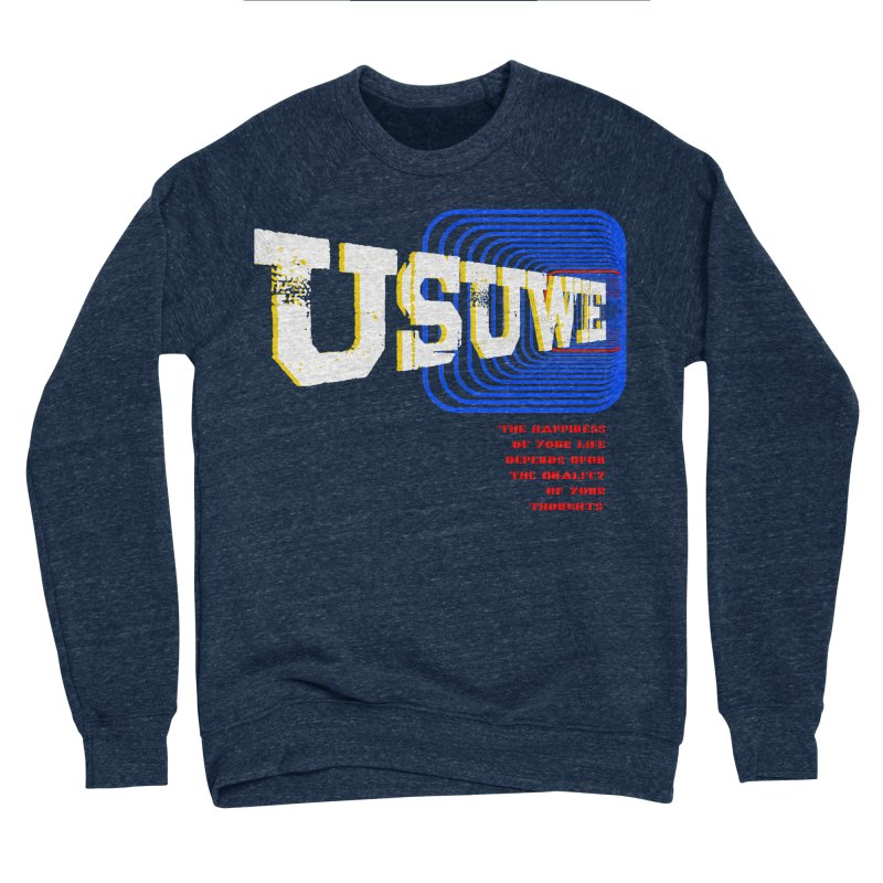 Perspective Men's Sponge Fleece Sweatshirt by USUWE by Pugs Atomz