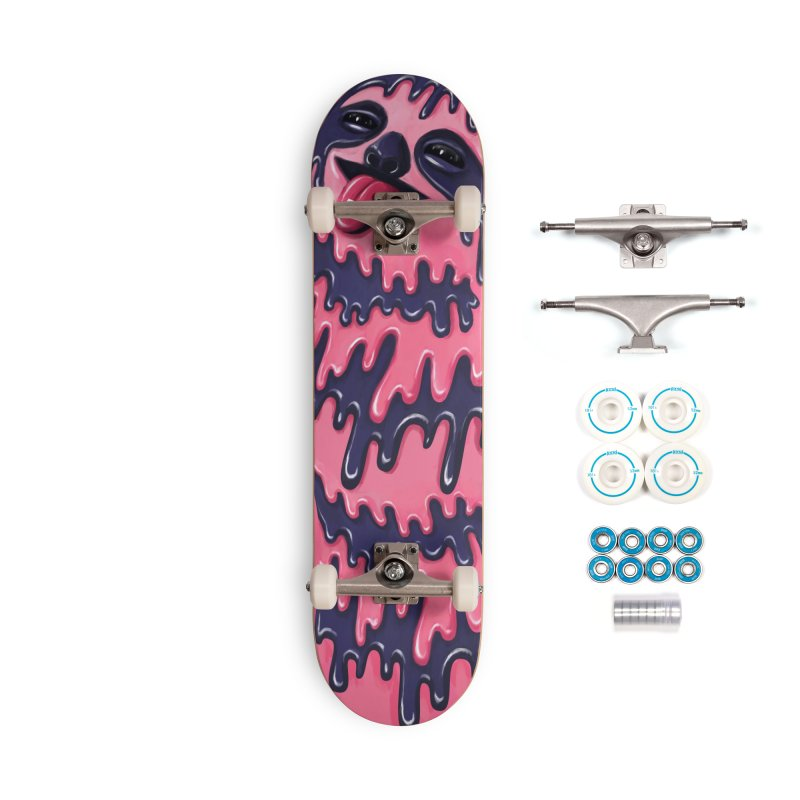Psychedelic Sloth Accessories Skateboard by Utter Garbage Nonsense
