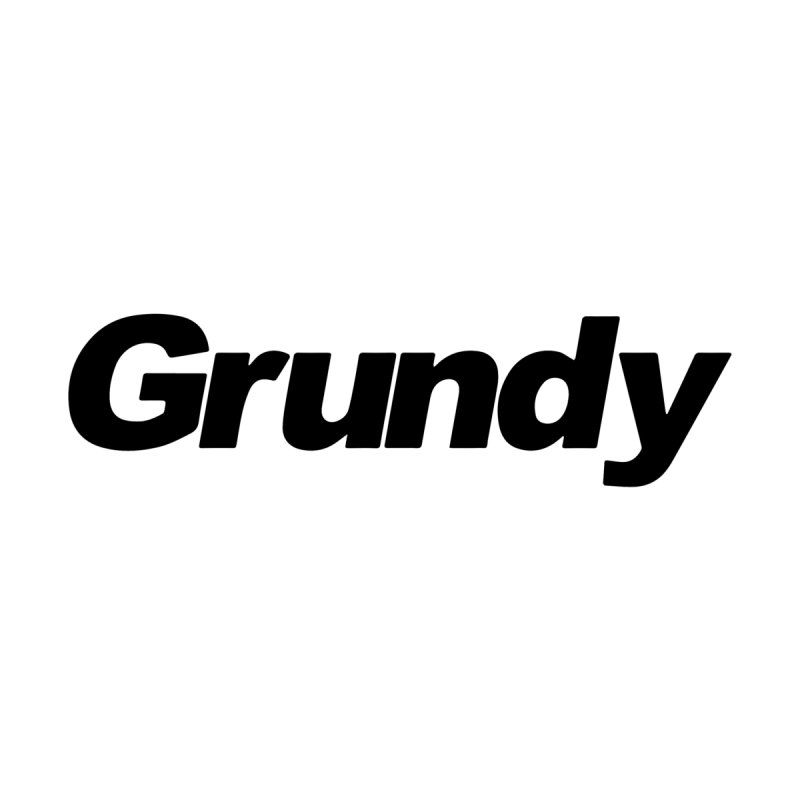 Grundy Logo (b) Men's T-Shirt by BassMerch.co