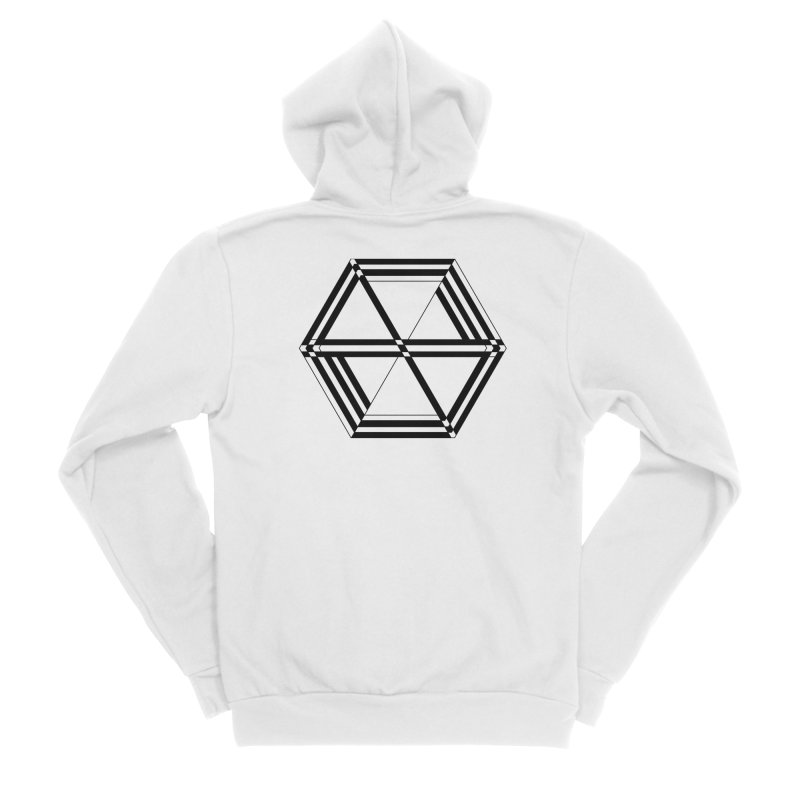 awesame Icon (b) Men's Zip-Up Hoody by BassMerch.co