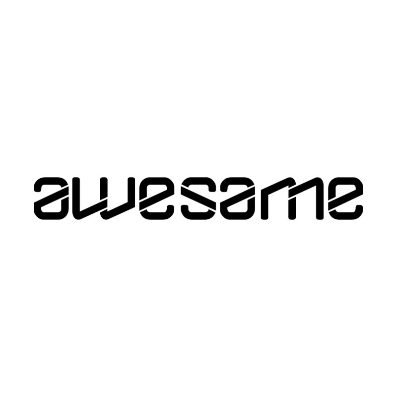 awesame Ambigram Logo (b) Accessories Bag by BassMerch.co