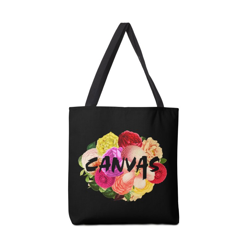 Canvas Floral Graphic Accessories Bag by BassMerch.co
