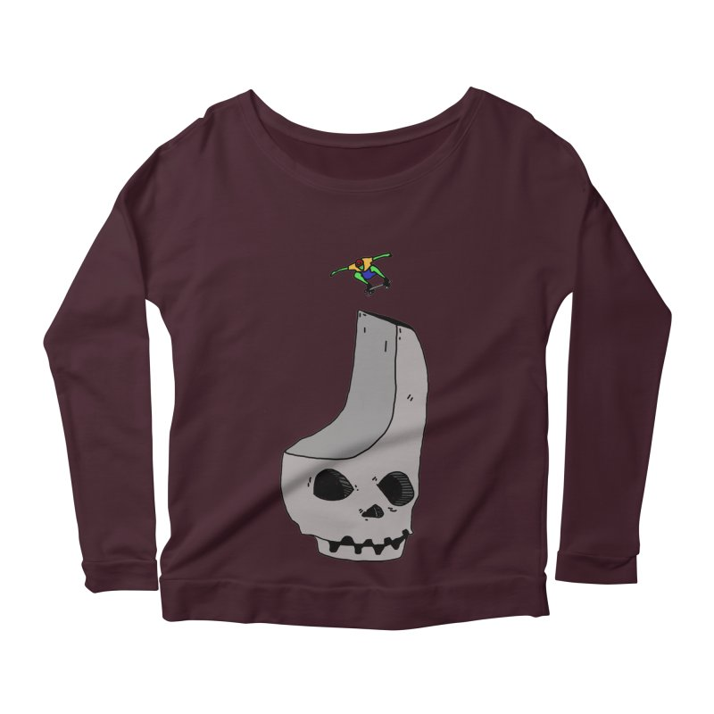 Skate or die Women's Longsleeve Scoopneck  by uvnvu's Artist Shop
