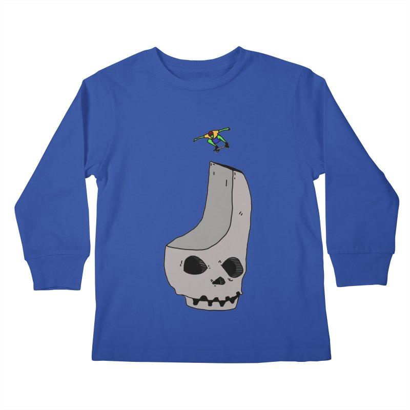 Skate or die Kids Longsleeve T-Shirt by uvnvu's Artist Shop