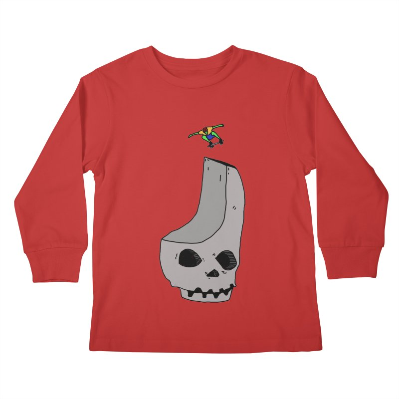 Skate or die Kids Longsleeve T-Shirt by uvnvu's Artist Shop