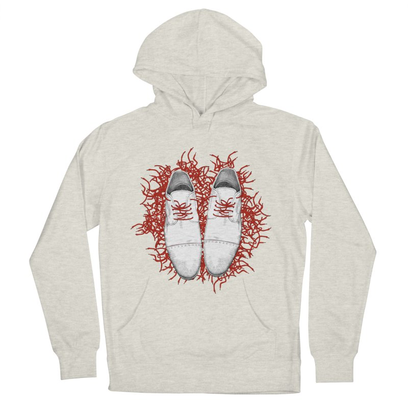 Crazy Laces Men's French Terry Pullover Hoody by uzu's Artist Shop