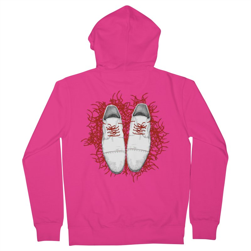 Crazy Laces Men's French Terry Zip-Up Hoody by uzu's Artist Shop