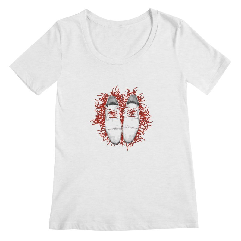 Crazy Laces Women's Scoopneck by uzu's Artist Shop