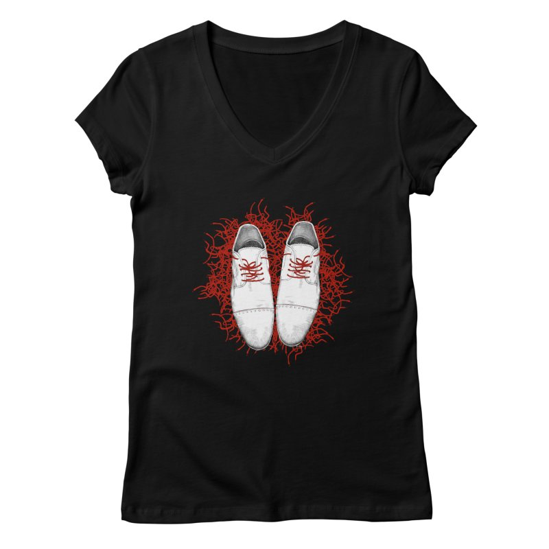 Crazy Laces Women's V-Neck by uzu's Artist Shop
