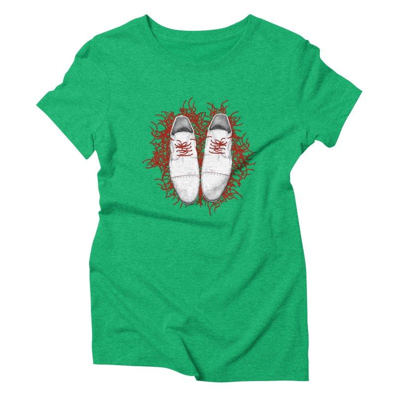 Crazy Laces Women's Triblend T-Shirt by uzu's Artist Shop