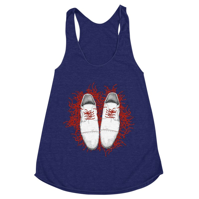 Crazy Laces Women's Racerback Triblend Tank by uzu's Artist Shop