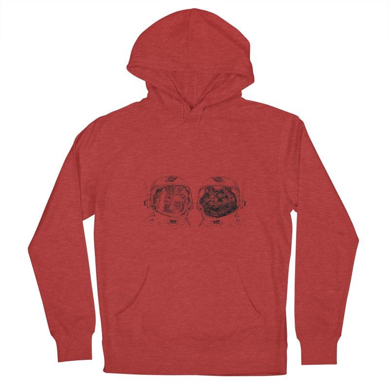 UZU Planet's cosmonauts Men's Pullover Hoody by uzu's Artist Shop