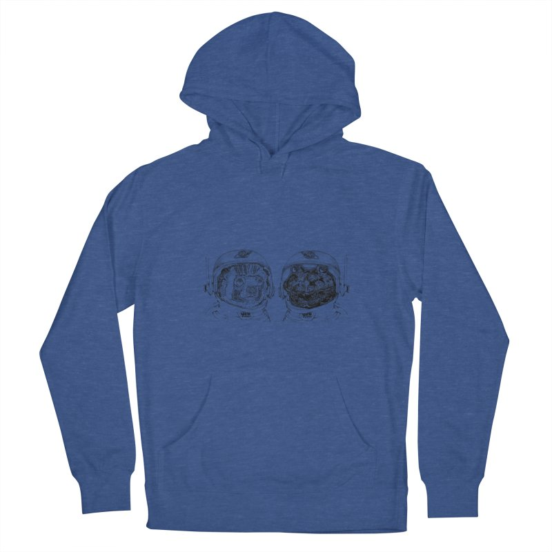 UZU Planet's cosmonauts Men's Pullover Hoody by uzu's Artist Shop