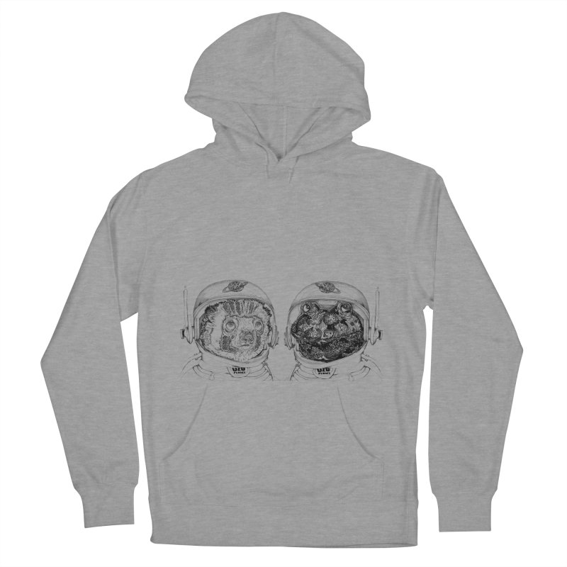 UZU Planet's cosmonauts Men's French Terry Pullover Hoody by uzu's Artist Shop