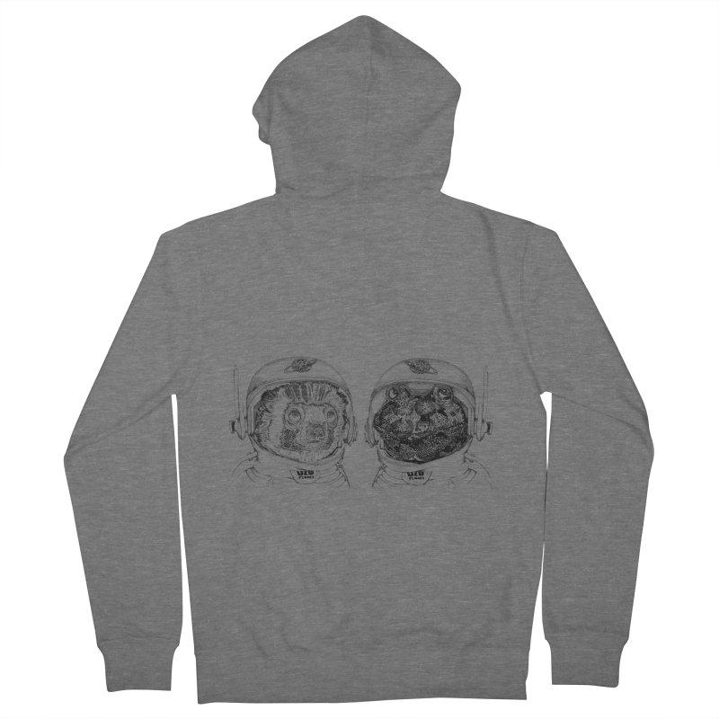 UZU Planet's cosmonauts Men's Zip-Up Hoody by uzu's Artist Shop