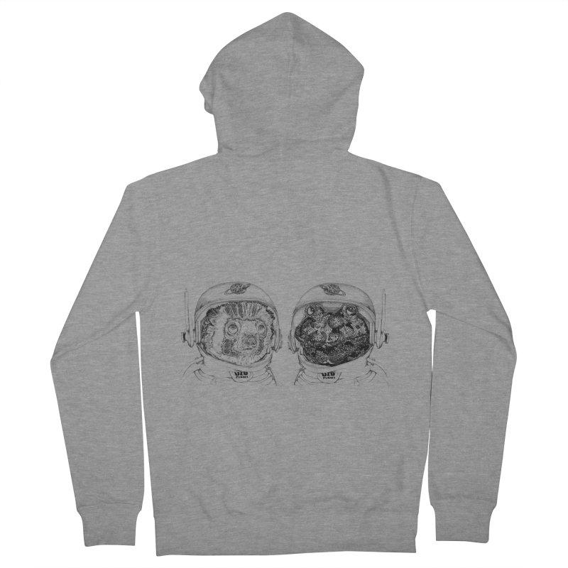 UZU Planet's cosmonauts Men's French Terry Zip-Up Hoody by uzu's Artist Shop