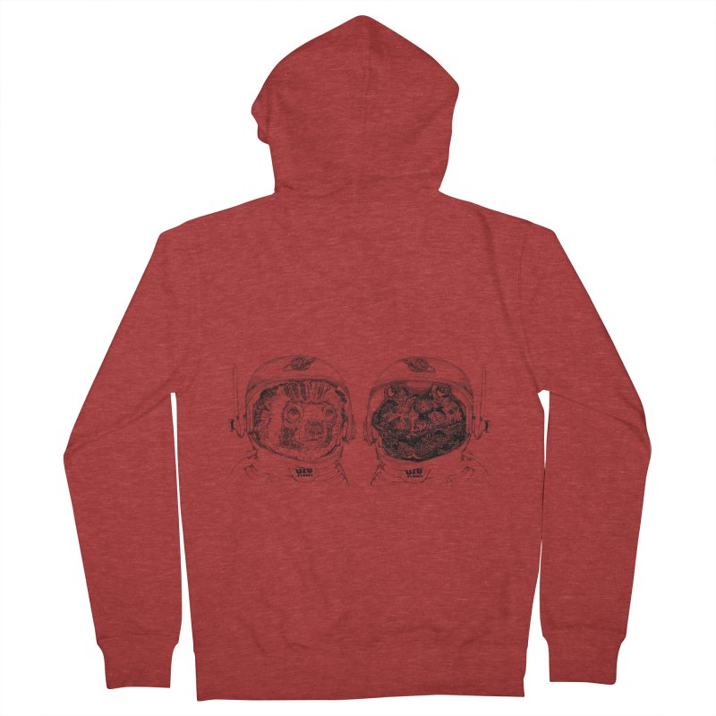 UZU Planet's cosmonauts Men's French Terry Zip-Up Hoody by uzu's Artist Shop
