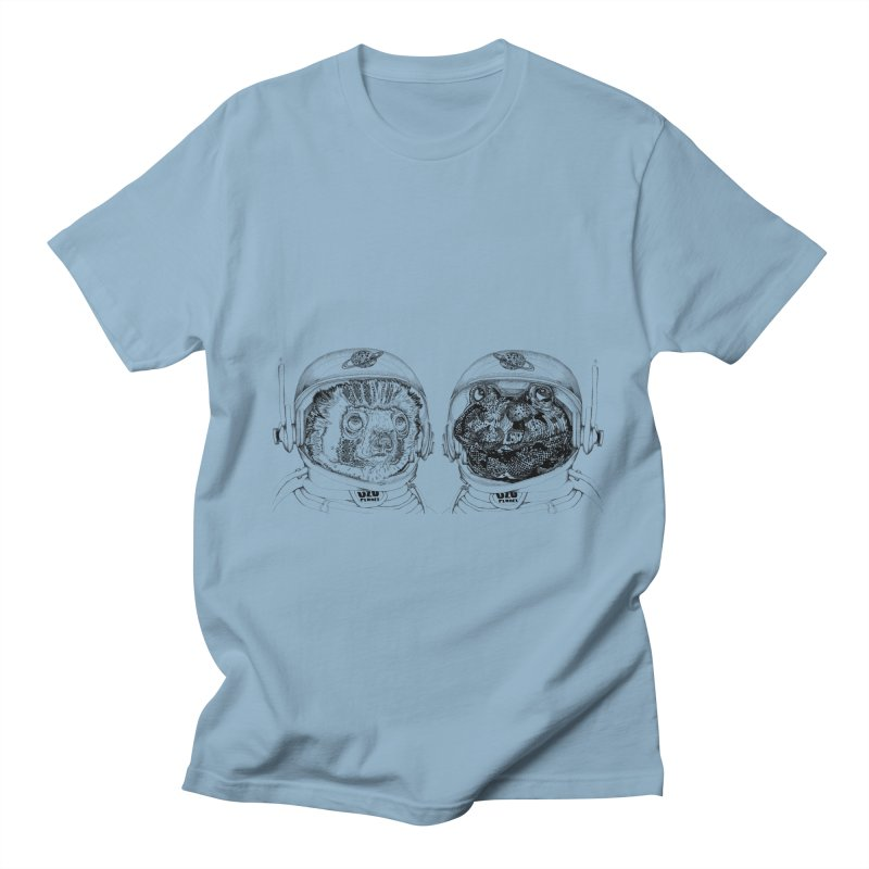 UZU Planet's cosmonauts Men's Regular T-Shirt by uzu's Artist Shop