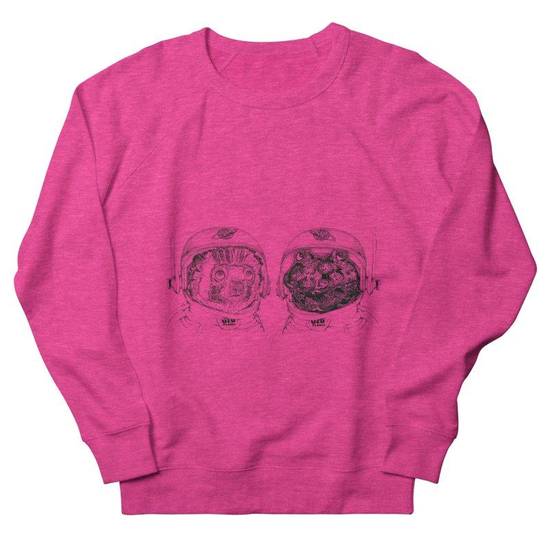 UZU Planet's cosmonauts Women's French Terry Sweatshirt by uzu's Artist Shop
