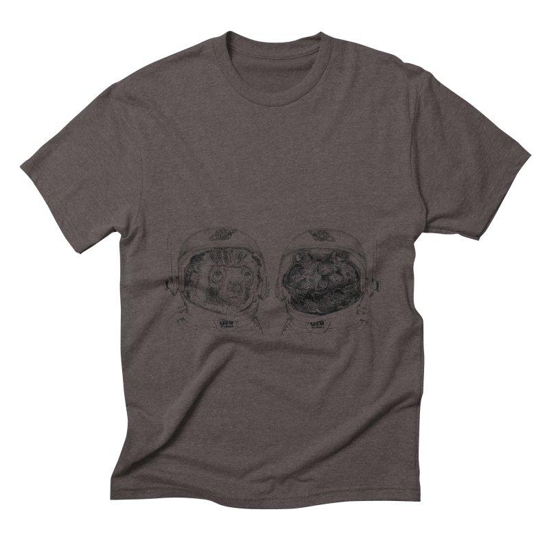 UZU Planet's cosmonauts Men's Triblend T-shirt by uzu's Artist Shop