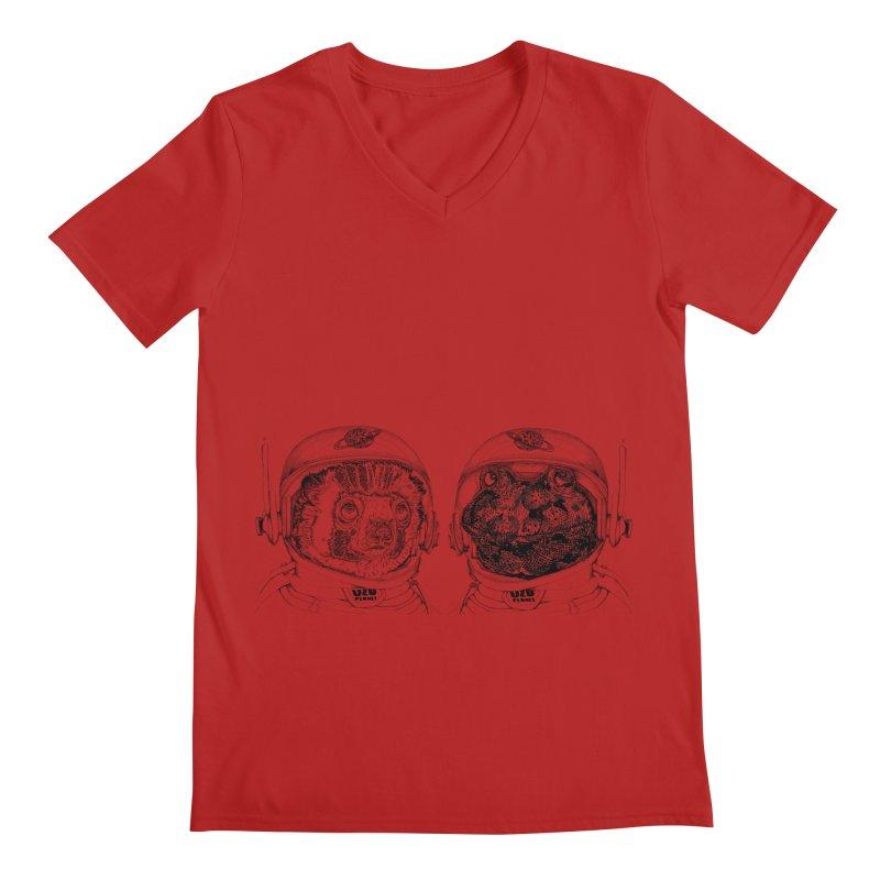 UZU Planet's cosmonauts Men's V-Neck by uzu's Artist Shop