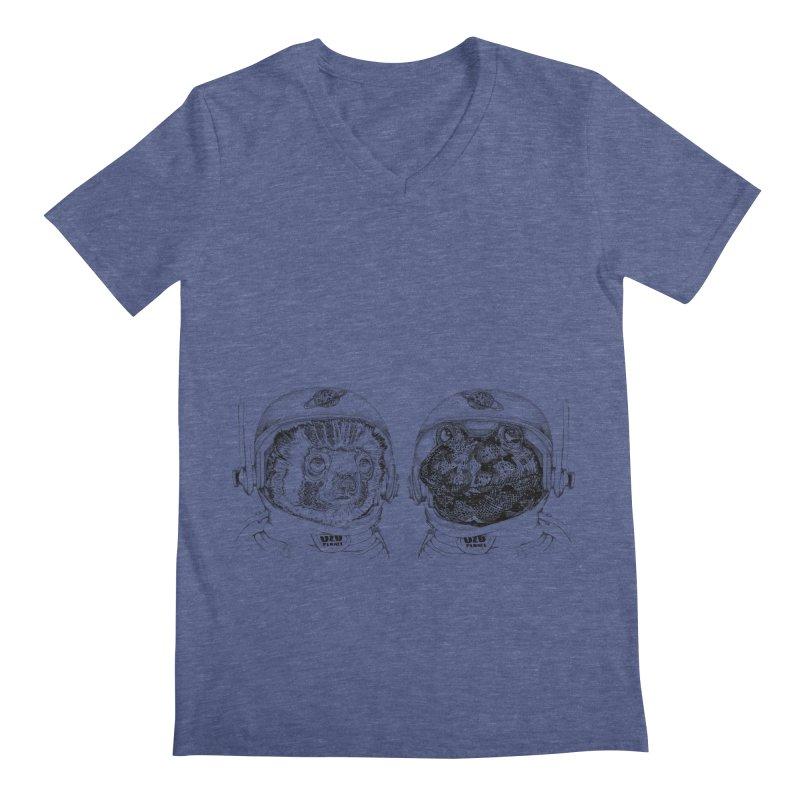 UZU Planet's cosmonauts Men's Regular V-Neck by uzu's Artist Shop