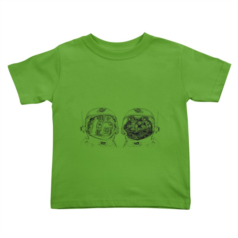 UZU Planet's cosmonauts Kids Toddler T-Shirt by uzu's Artist Shop