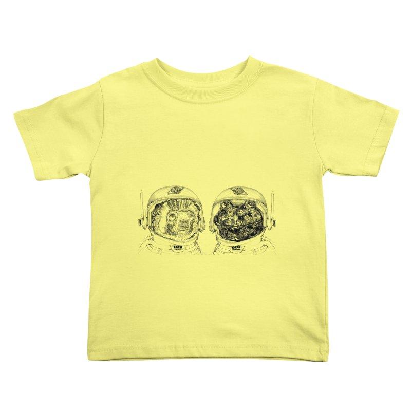 UZU Planet's cosmonauts Kids Toddler T-Shirt by uzu's Artist Shop