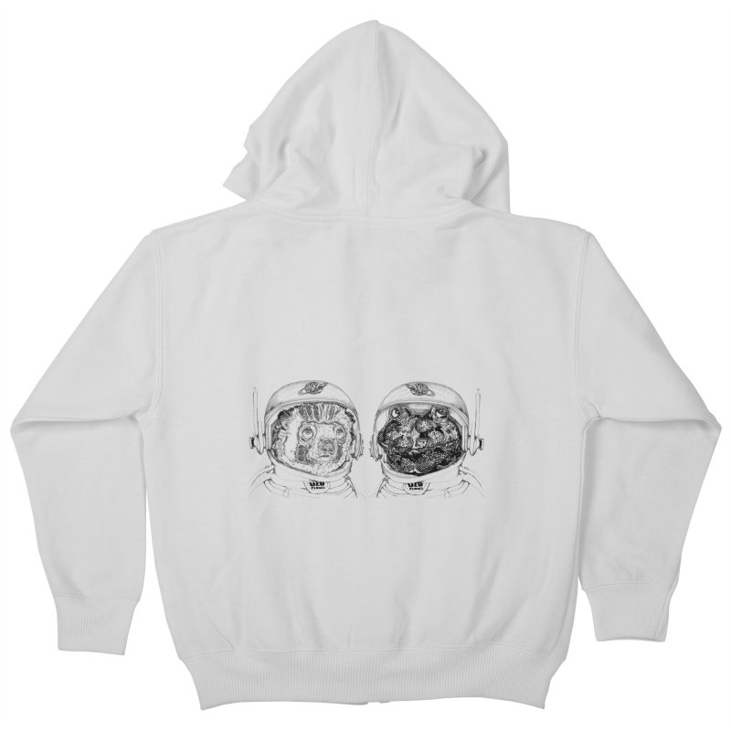 UZU Planet's cosmonauts Kids Zip-Up Hoody by uzu's Artist Shop