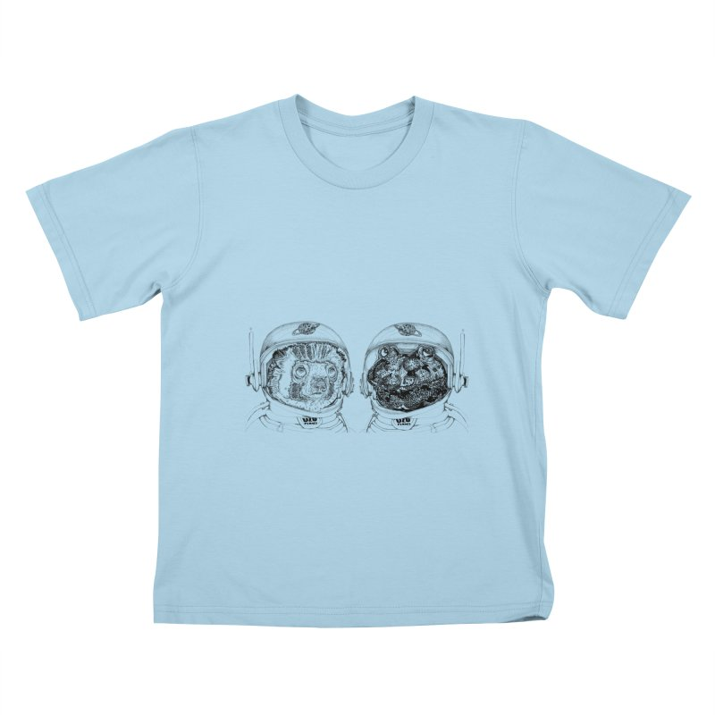 UZU Planet's cosmonauts Kids T-Shirt by uzu's Artist Shop