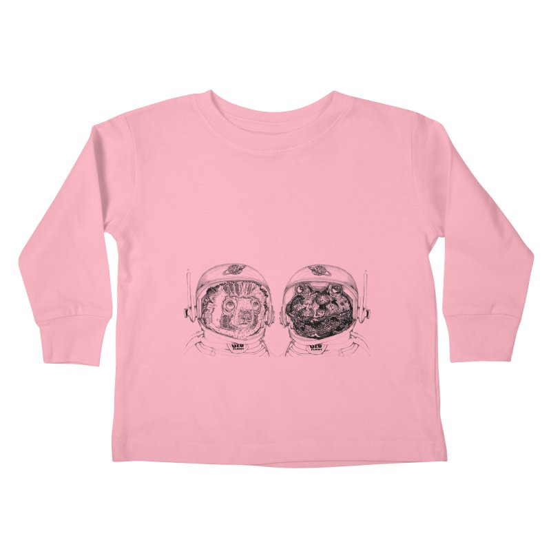 UZU Planet's cosmonauts Kids Toddler Longsleeve T-Shirt by uzu's Artist Shop