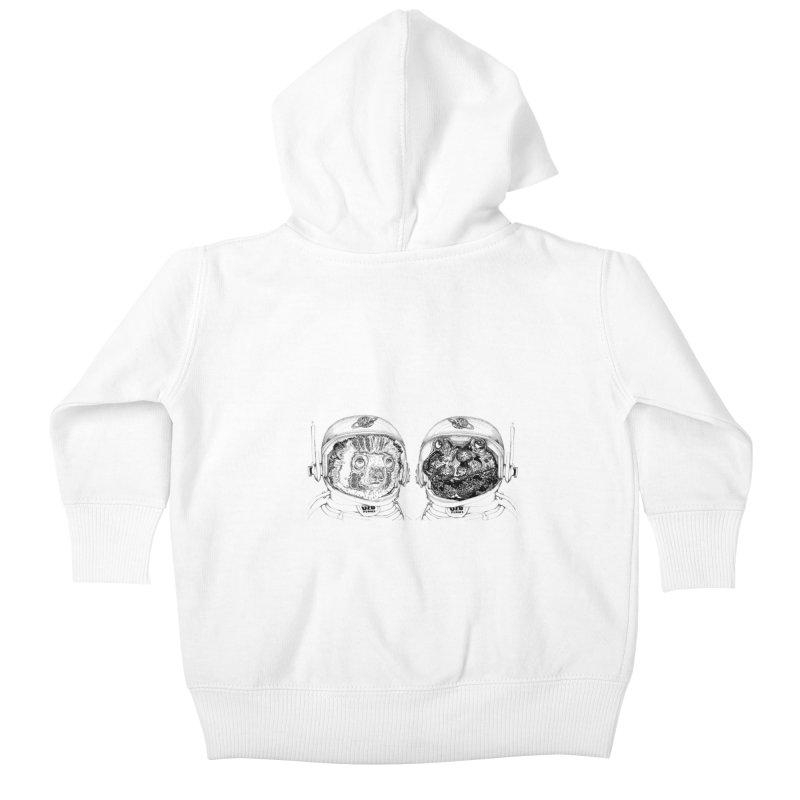 UZU Planet's cosmonauts Kids Baby Zip-Up Hoody by uzu's Artist Shop