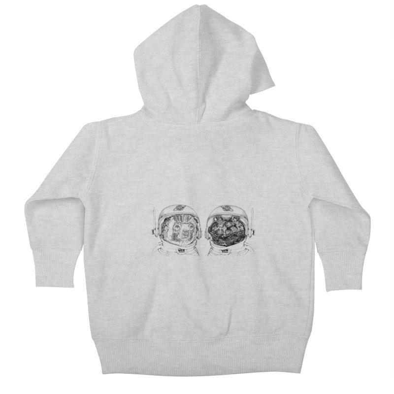 UZU Planet's cosmonauts Kids Baby Zip-Up Hoody by uzu's Artist Shop