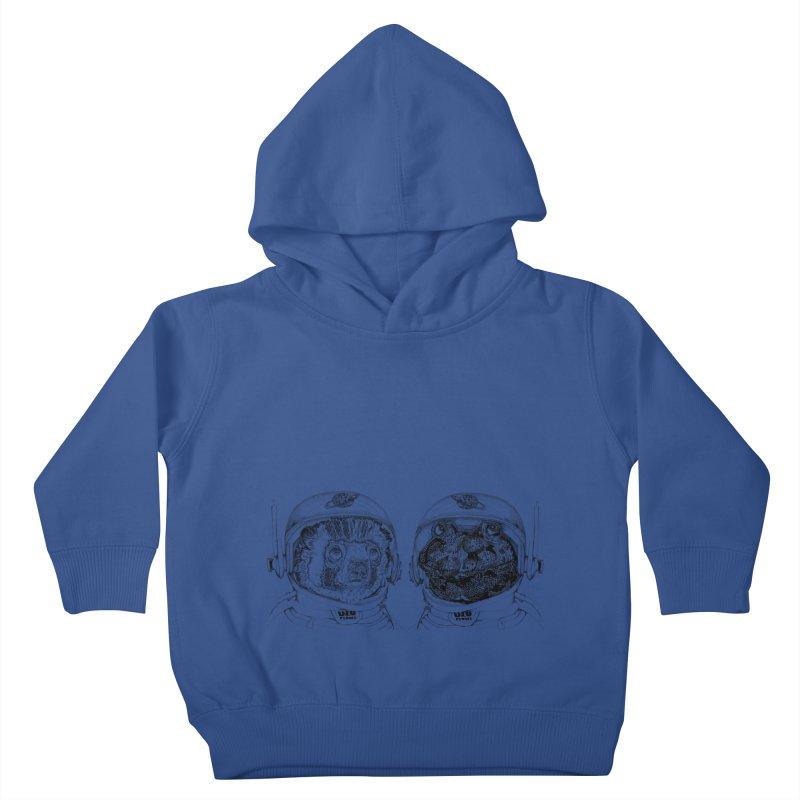 UZU Planet's cosmonauts Kids Toddler Pullover Hoody by uzu's Artist Shop