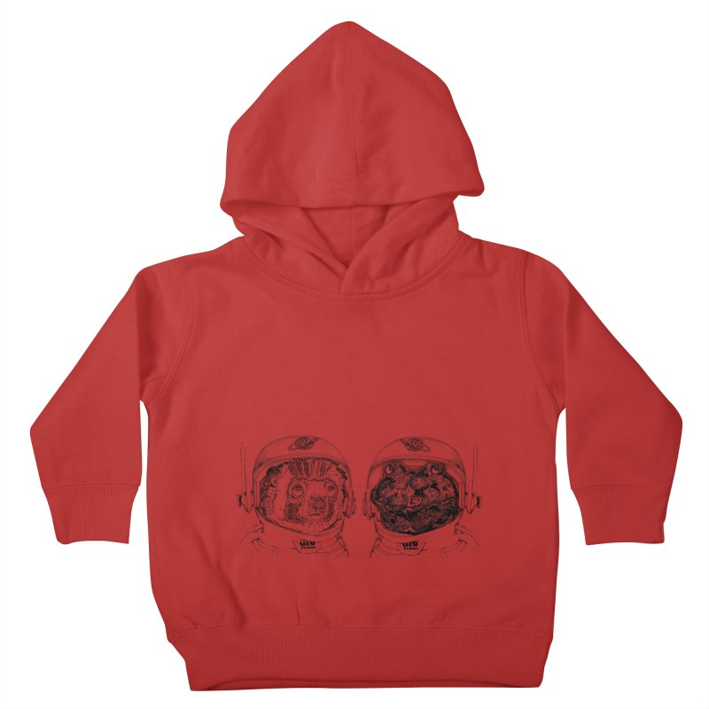 UZU Planet's cosmonauts Kids Toddler Pullover Hoody by uzu's Artist Shop