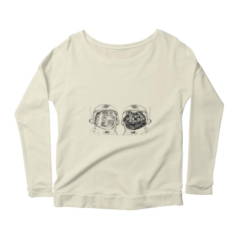UZU Planet's cosmonauts Women's Scoop Neck Longsleeve T-Shirt by uzu's Artist Shop