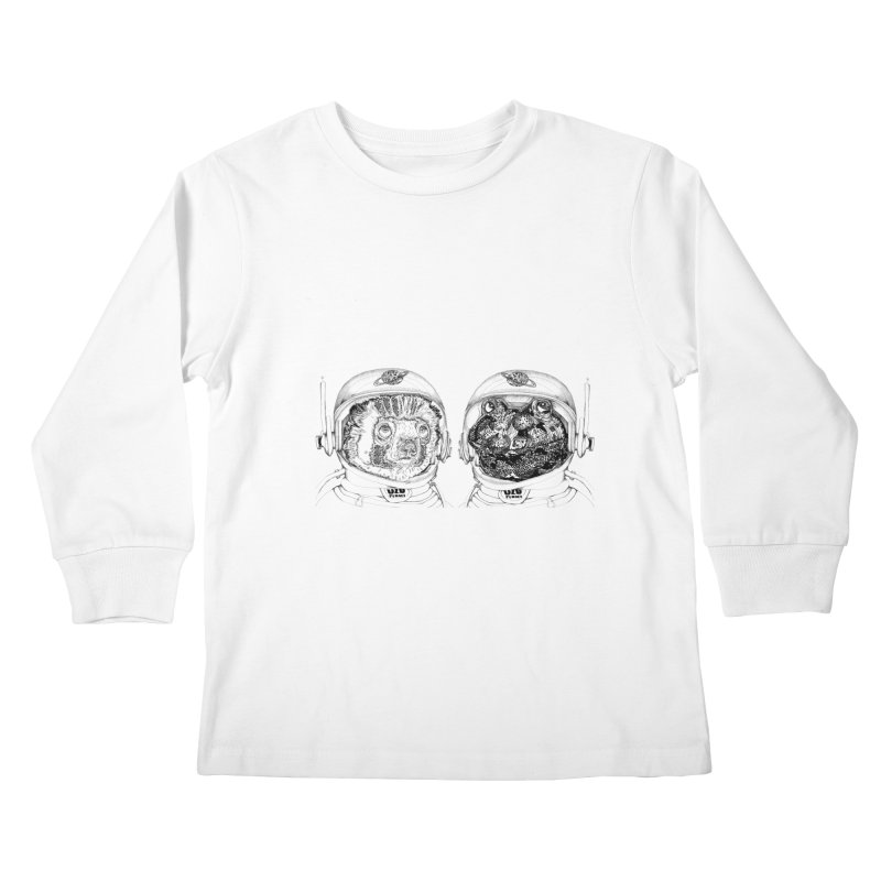 UZU Planet's cosmonauts Kids Longsleeve T-Shirt by uzu's Artist Shop