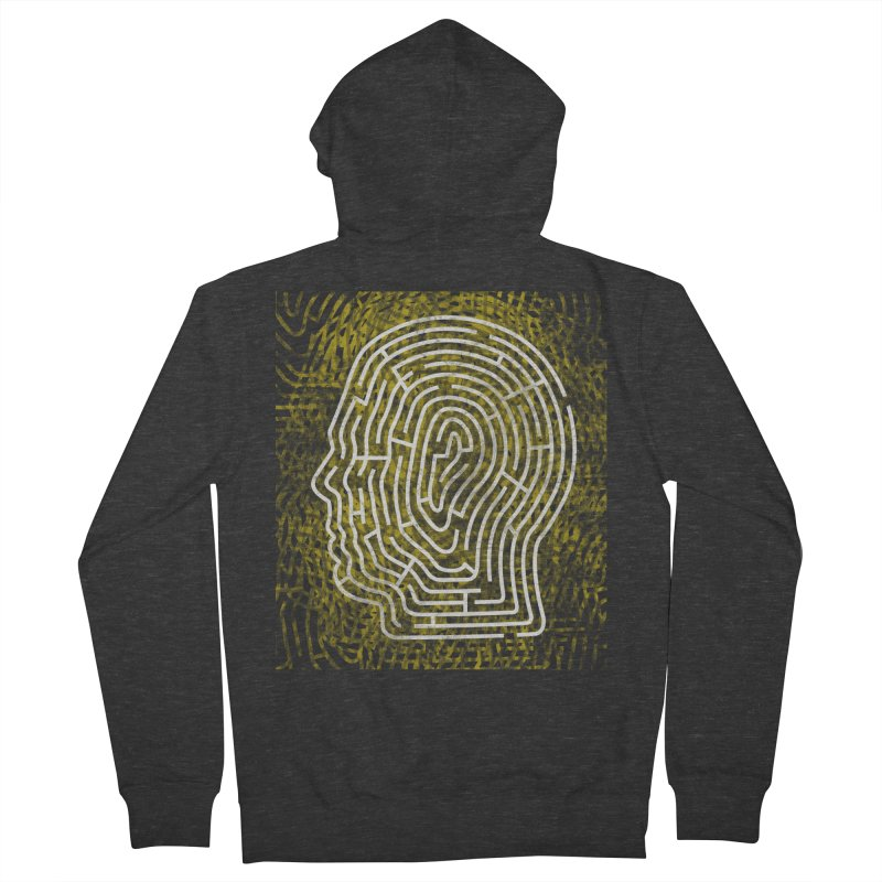 Head Maze Men's Zip-Up Hoody by vagenasfx's Artist Shop