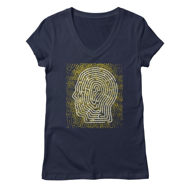 Head Maze Women's V-Neck by vagenasfx's Artist Shop