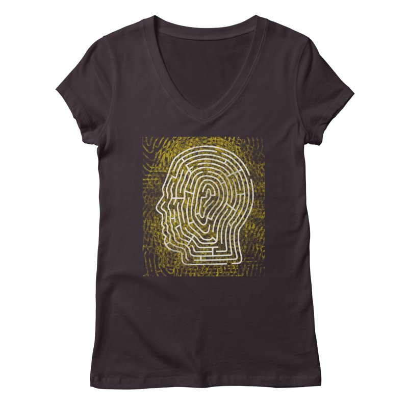 Head Maze Women's V-Neck by vagenasfx's Artist Shop