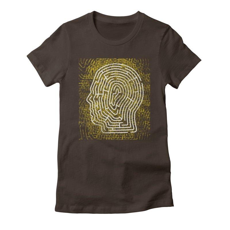Head Maze Women's Fitted T-Shirt by vagenasfx's Artist Shop