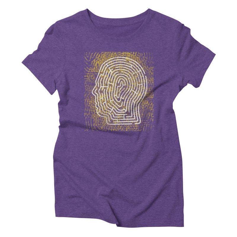Head Maze Women's Triblend T-Shirt by vagenasfx's Artist Shop