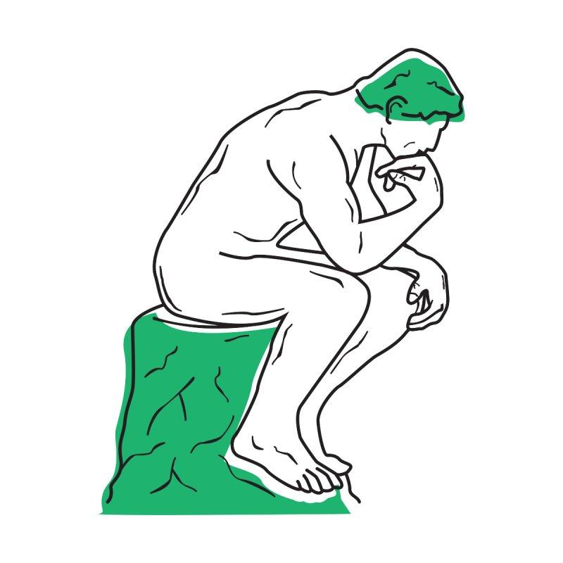 Thinker (green) Men's T-Shirt by Val's Artist Shop