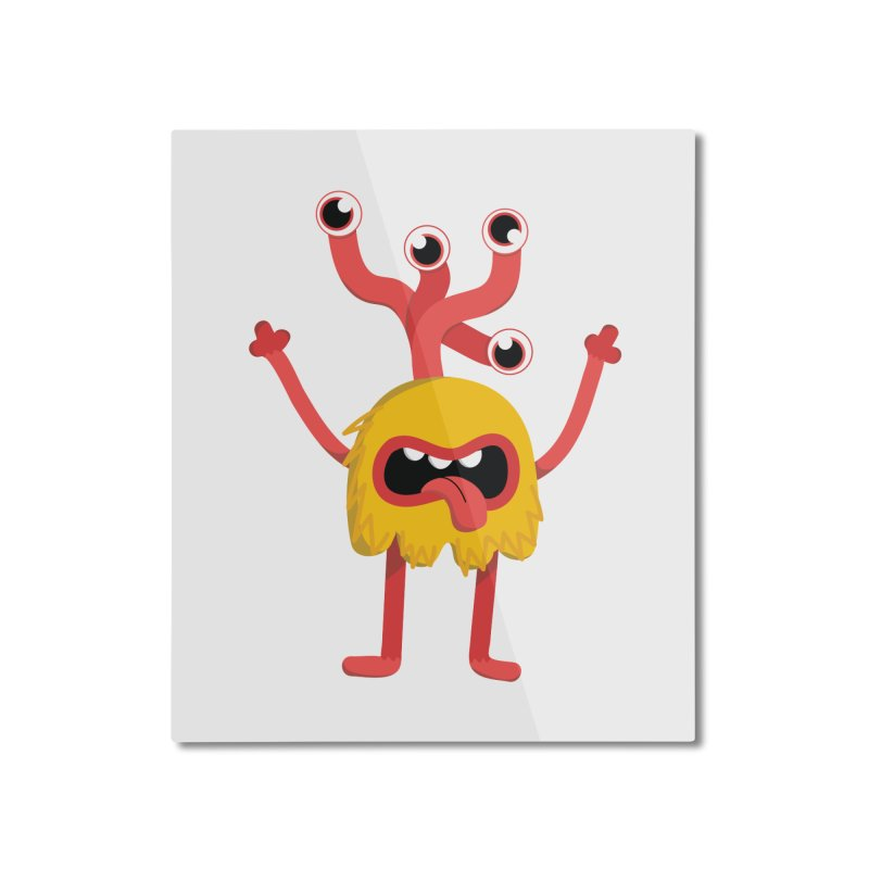 Bob (yellow) Home Mounted Aluminum Print by Val's Artist Shop