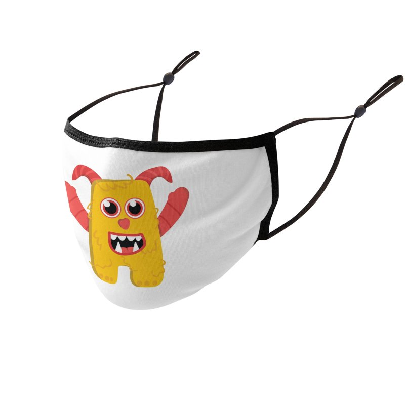 Misty (yellow) Accessories Face Mask by Val's Artist Shop